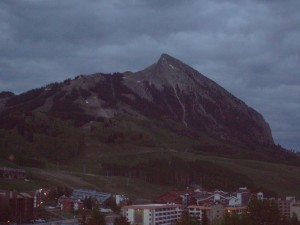 From my balcony, an early morning shot of the mountain. Below you can see the Grand Lodge where the conference is held.