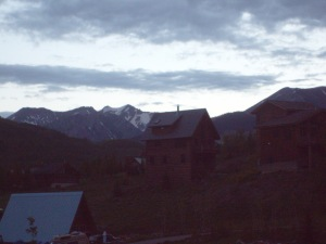 An early morning shot from my balcony today in Crested Butte.