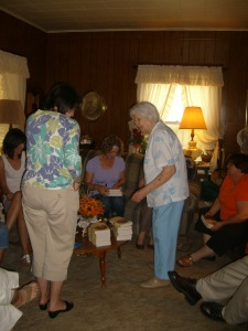 Readers at the lovely Burgess Home in Welch, Oklahoma.