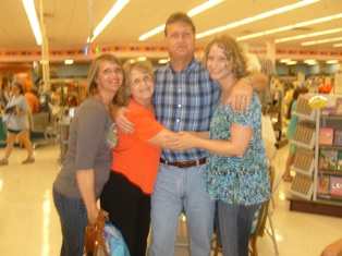Me with my brother, Troy Gray, mother Barbara, and Sister Cheri at Tulsa Mardel's.