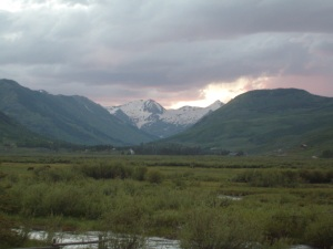 Sunset in Crested Butte, CO T. Forkner 2009
