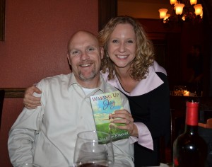 Author Tina Ann Forkner and husband Albert at her release dinner for Waking Up Joy held at Morris House Bistro in Cheyenne.