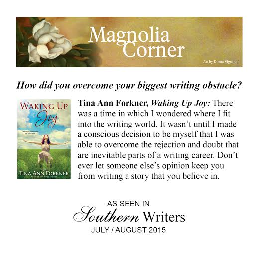 Southern Writers Quote July - Tina Ann Forkner