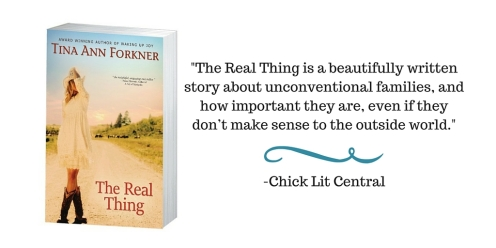 The Real Thing is a beautifully written story about unconventional families, and how important they are, even if they don't make sense to the outside world.-Chick Lit Central
